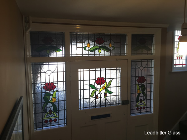 1930s Leaded Glass Door Landing Window Kettering