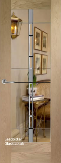 Modern Pattern 10 door glass