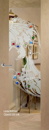 Pattern 10 door glass