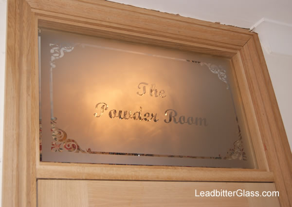 Etched Glass Room Name Kent
