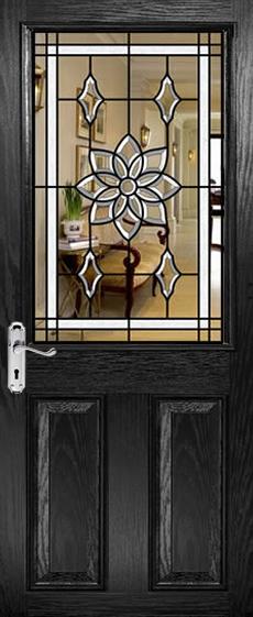 Half Glazed Bevelled Glass Door Designs