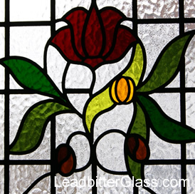 1930s leaded glass door kettering for 1930s stained glass window designs