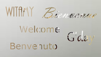 Etched glass welcome panel