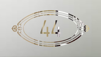 Art deco house number sandblasted glass