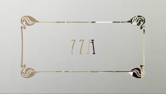 Mackintosh etched glass number