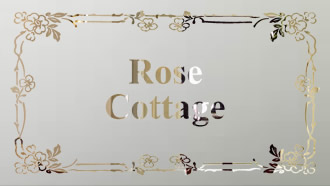 Rose Cottage etched glass
