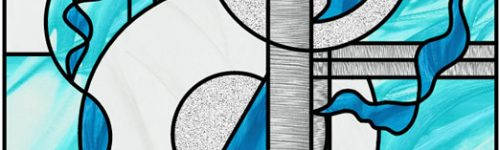 Abstract Glass Feature Window