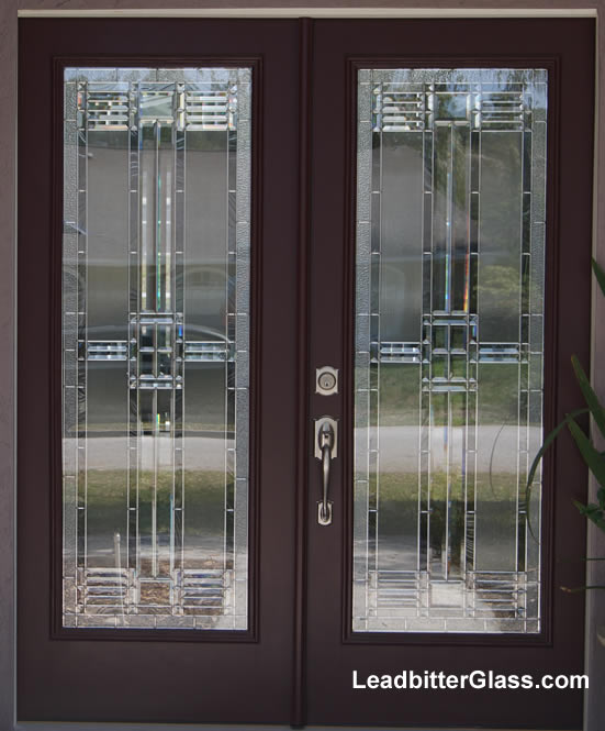American beveled glass door