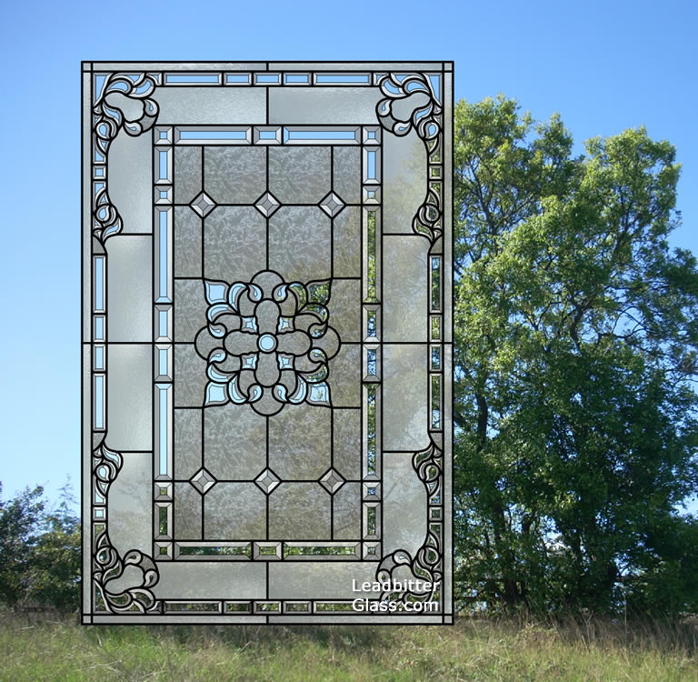 American Style Bevelled Glass Feature Window