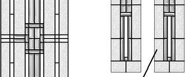 American Bevelled Glass Door & Side Panel