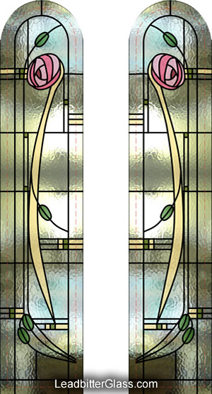 Leaded Glass Mackintosh Doors ... & Mackintosh Doors u0026 Windows - London