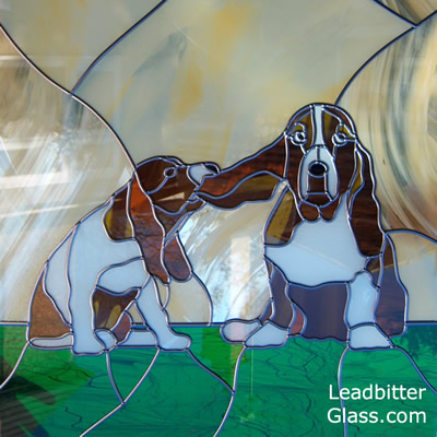 Stained Glass Basset Hounds