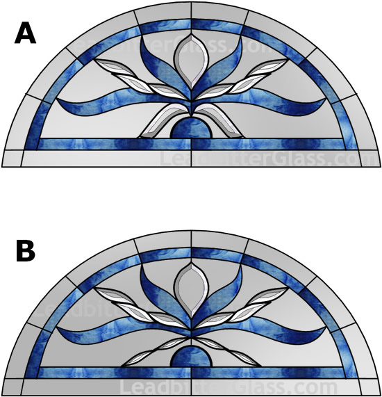 Bevelled glass arch feature window gloucester for Window design with arch