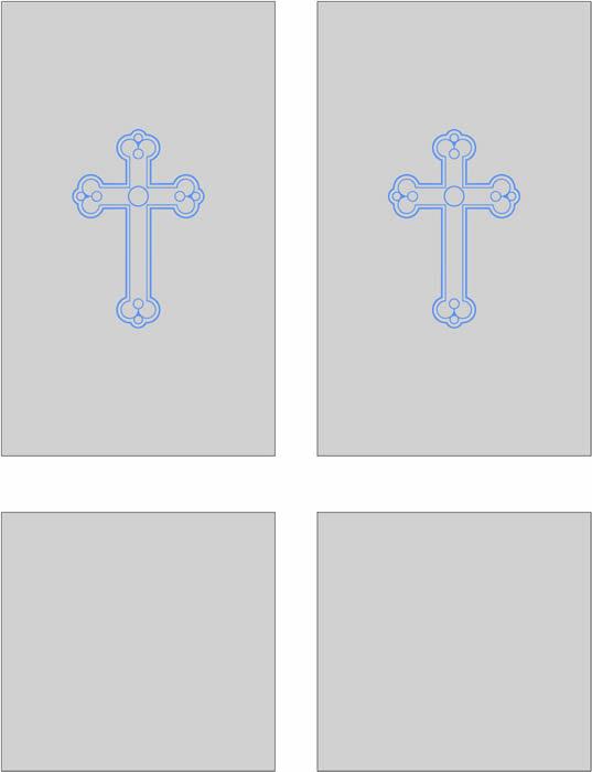 Sandblasted glass with blue crucifix