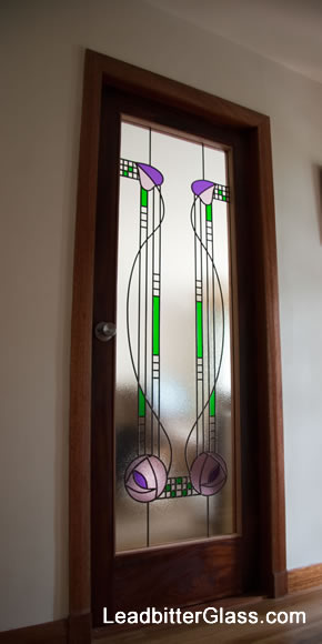 Leaded Glass Mackintosh Full Door Perth