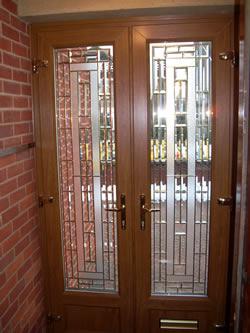 American Bevelled Glass Door Design Northamptonshire