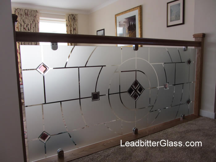 Fused Etched Room Glass Partition Leighton Buzzard