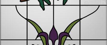 Dragonfly & Iris Door