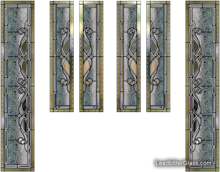 Elegant Bevelled Glass Door