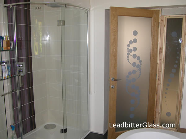 the glass panel below was manufactured by our studio and delivered to