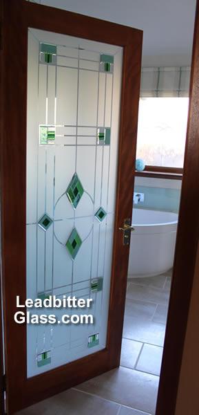 Glass Bathroom Doors Uk fused & etched bathroom door glass - aberdeen -