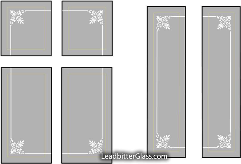 Etched Glass Door Borders Aberdeen