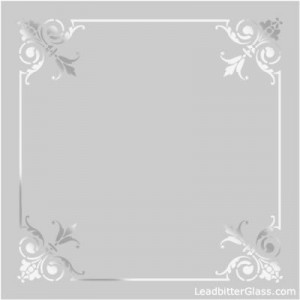 Etched Glass Corners Borders Page 1