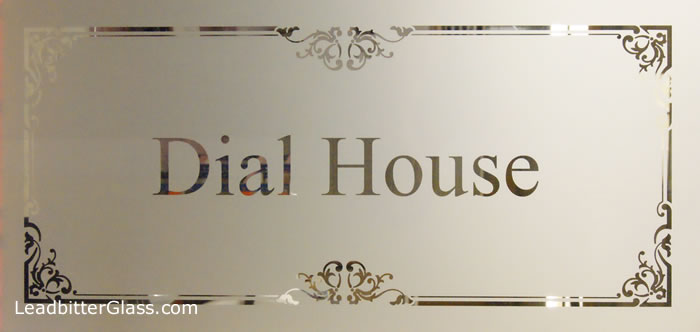 Etched Glass House Name