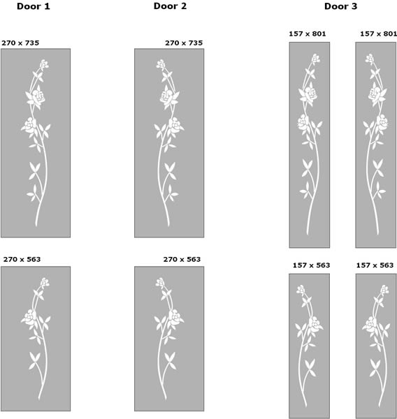Floral etched glass internal door designs new forest for Glass etching designs for doors