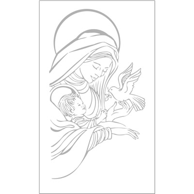 Religious Etched Glass Designs -