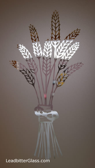 Etched Glass Wheatsheaf barley