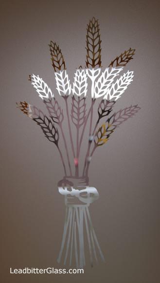 Etched Glass Wheatsheaf barley