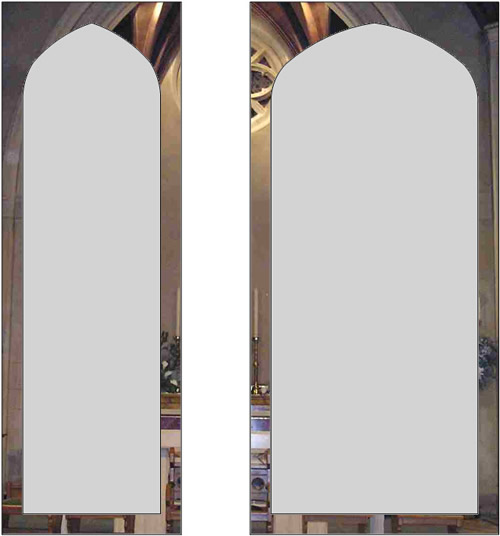Soham Church etched glass windows