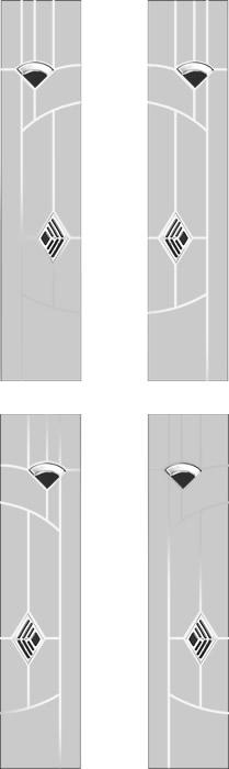 Side panels to door