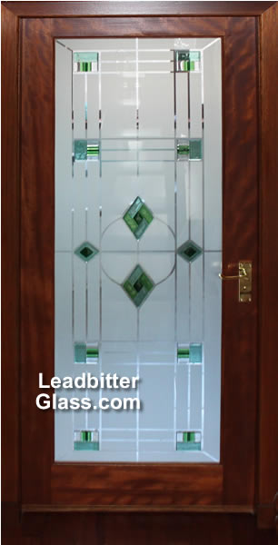 Fused Amp Etched Bathroom Door Glass Aberdeen