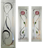 Fused & Etched Mackintosh Glass