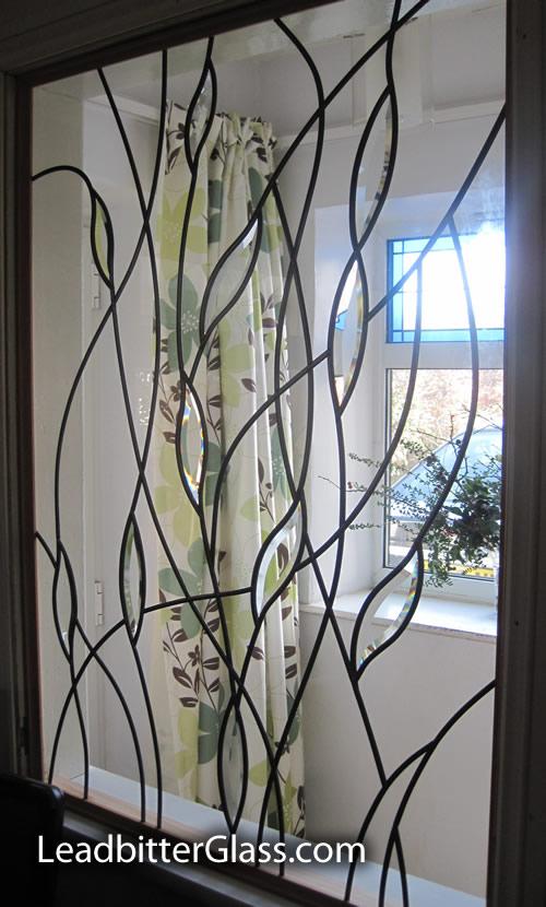 Bevelled Glass Leaves