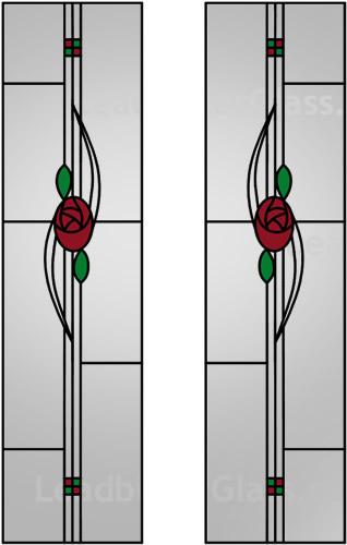 Gray Stained Glass Mackintosh Door