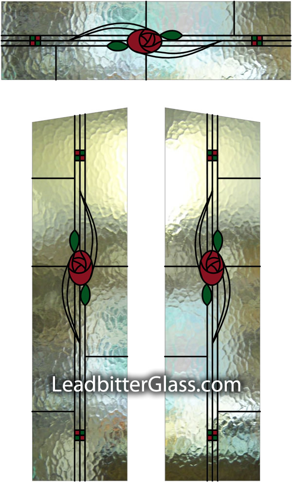 Stained Glass Mackintosh Door Fanlight Design Coventry