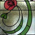 Leaded Glass Rennie Mackintosh Rose Door