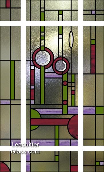 modern_mackintosh_door_glass & Stained Glass Mackintosh Downham Door Glass - London