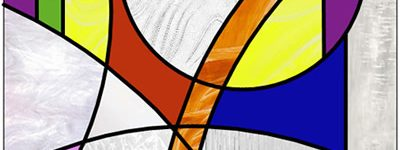 Modern Stained Glass Circles