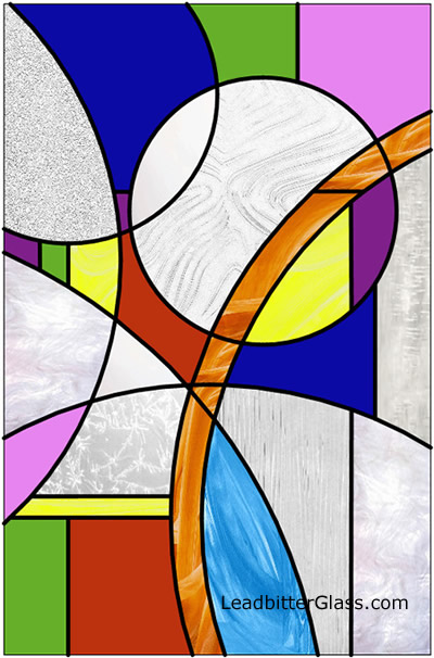 Stained Glass Designs : Modern stained glass circles coventry