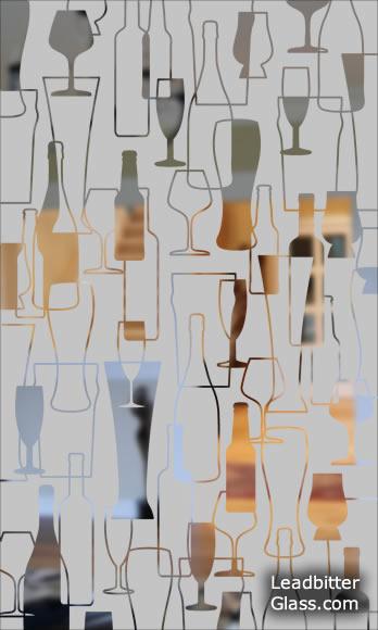 Pub Etched Glass
