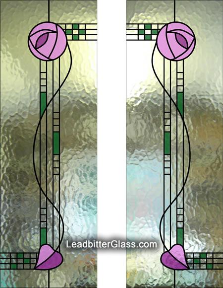 Mackintosh French Doors  sc 1 st  Leadbitter Glass & Stained Glass Rennie Mackintosh French Doors - Gloucester