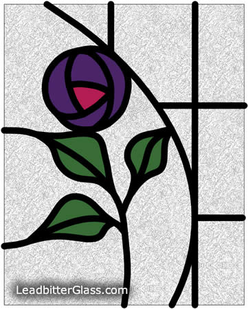 Small Mackintosh Rose Door Glass Henley On Thames
