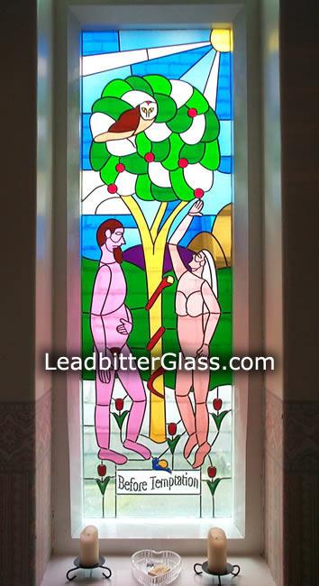 Overlay Stained Glass Adam Amp Eve Irthlingborough