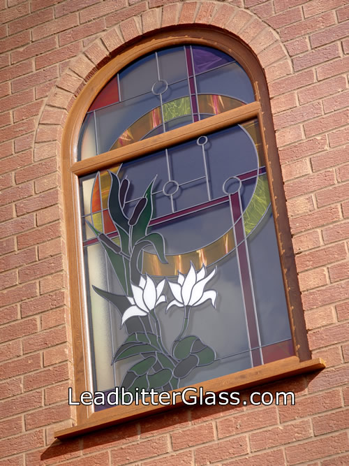 Decorative Glass Arch Window