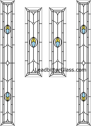 Kate Stained Glass Door Side Panels Corby
