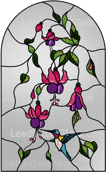Hummingbird Leaded Glass Door Bedford